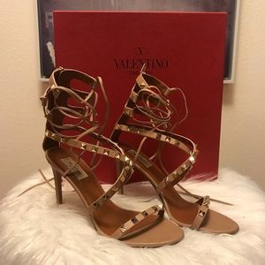6cd08dd4e4a47 Valentino · Valentino Rockstud Lace Up Sandal Heels